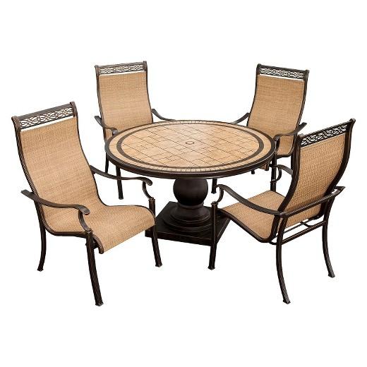 Monaco 5-Piece Sling Patio Dining Furniture Set - Sling Outdoor Furniture : Target