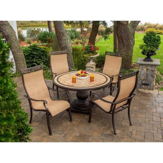 Outdoor Patio Dining Furniture monaco 5-piece sling patio dining furniture set : target