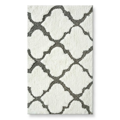 Medallion Bath Rug Gray (20X34 )- Threshold™