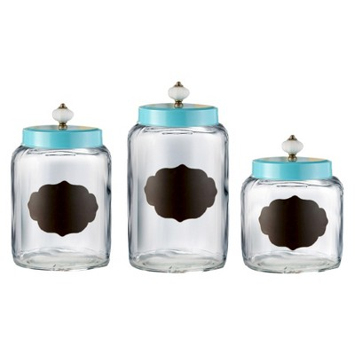 American Atelier Canister Set of 3 - Blue