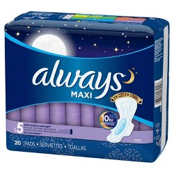 Always Maxi Size 5 Extra Heavy Overnight Pads with Wings - Unscented
