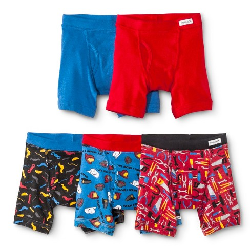 Fruit of the Loom® Toddler Boys' 5-Pack Patterned Boxer Briefs - Colors May Vary - image 1 of 1