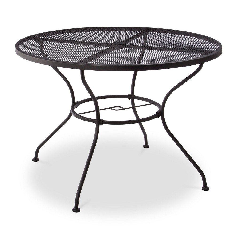 Hamlake Wrought Iron Patio Furniture.Upc 490090006042 Hamlake Wrought Iron Round Patio Dining Table