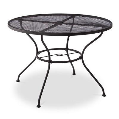 hamlake wrought iron round patio dining table