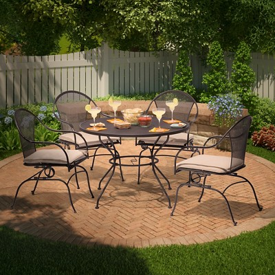 Hamlake 5-Piece Wrought Iron Motion Patio Dining Set