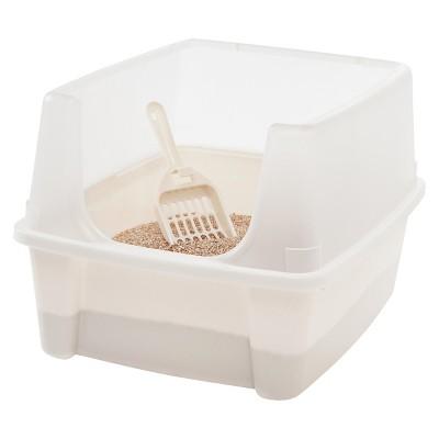 IRIS Open Top Litter Box with Scoop, Ivory
