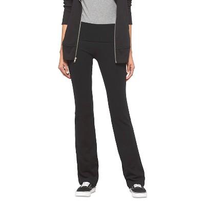 Women's Foldover Waist Bootcut Yoga Pants - Mossimo Supply Co.™ Black L