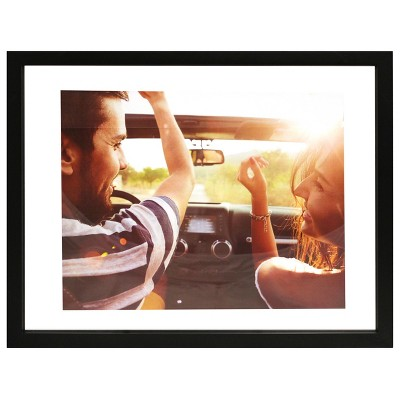 Float Frame Black 14x18 Glass for 11x14 Photo - Room Essentials™