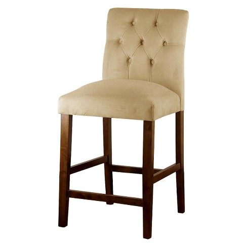 "Brookline Tufted Velvet 24"" Counter Stool - Sand - Threshold™ - image 1 of 4"