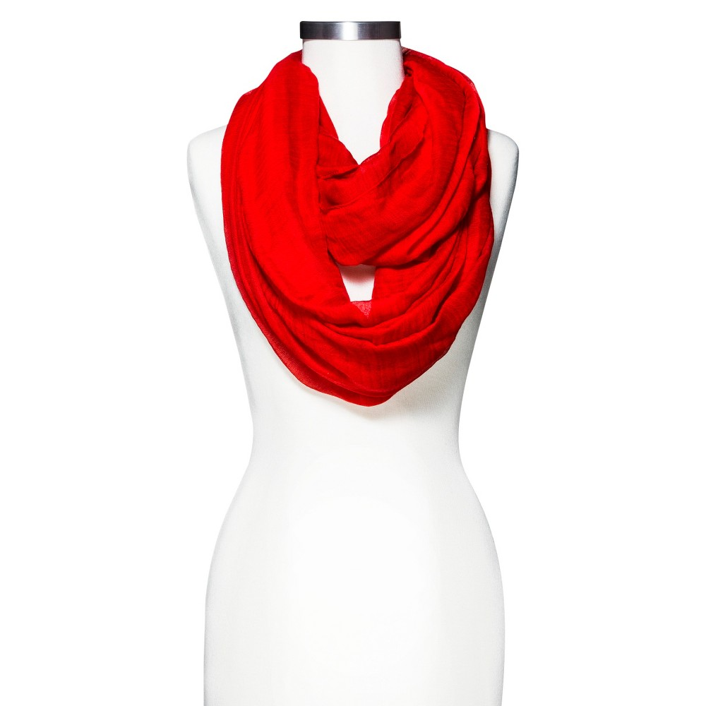 Crinkle Infinity Scarf - A New Day Red, Womens