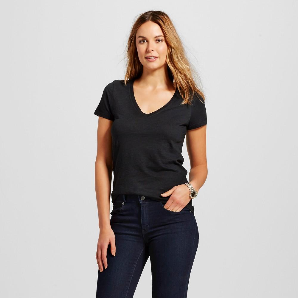 Women's Vintage V Tee Black M - Merona plus size,  plus size fashion plus size appare