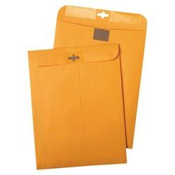 Quality Park Postage Saving ClearClasp Envelopes - Brown (100 Per Box)