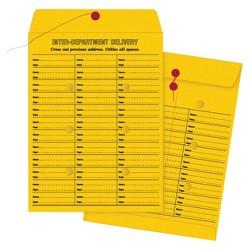 Quality Park Brown Kraft String & Button Box-Style Interoffice Envelope - 100 Per Box