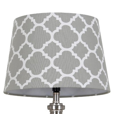 Flocked Ogee Lamp Shade Gray Marble - Threshold™
