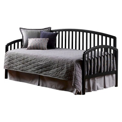 carolina daybed wsuspension deck and rollout trundle black twin
