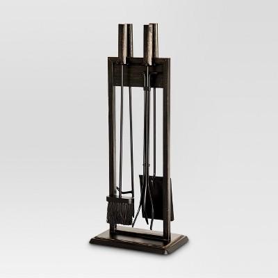 Fireplace Toolset - Black with Brushed Bronze Finish - Threshold™