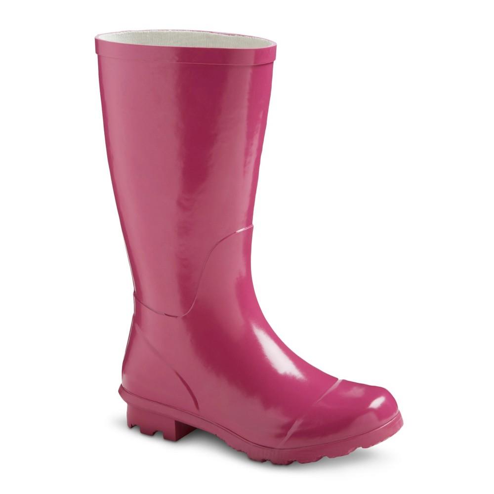 Girls Classic Tall Rain Boots - Pink 12