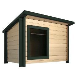 New Age Pet Rustic Lodge Style Dog House - Medium - Beige