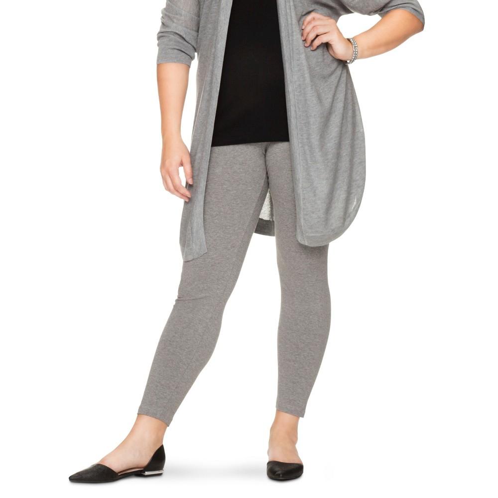 Womens Plus-Size Leggings - Xhilaration Heather Gray 3X