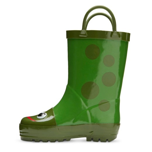 Toddler Kid's Frog Rain Boots - Green : Target