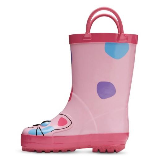 Toddler Girls' Calico Kitty Rain Boots - Pink : Target