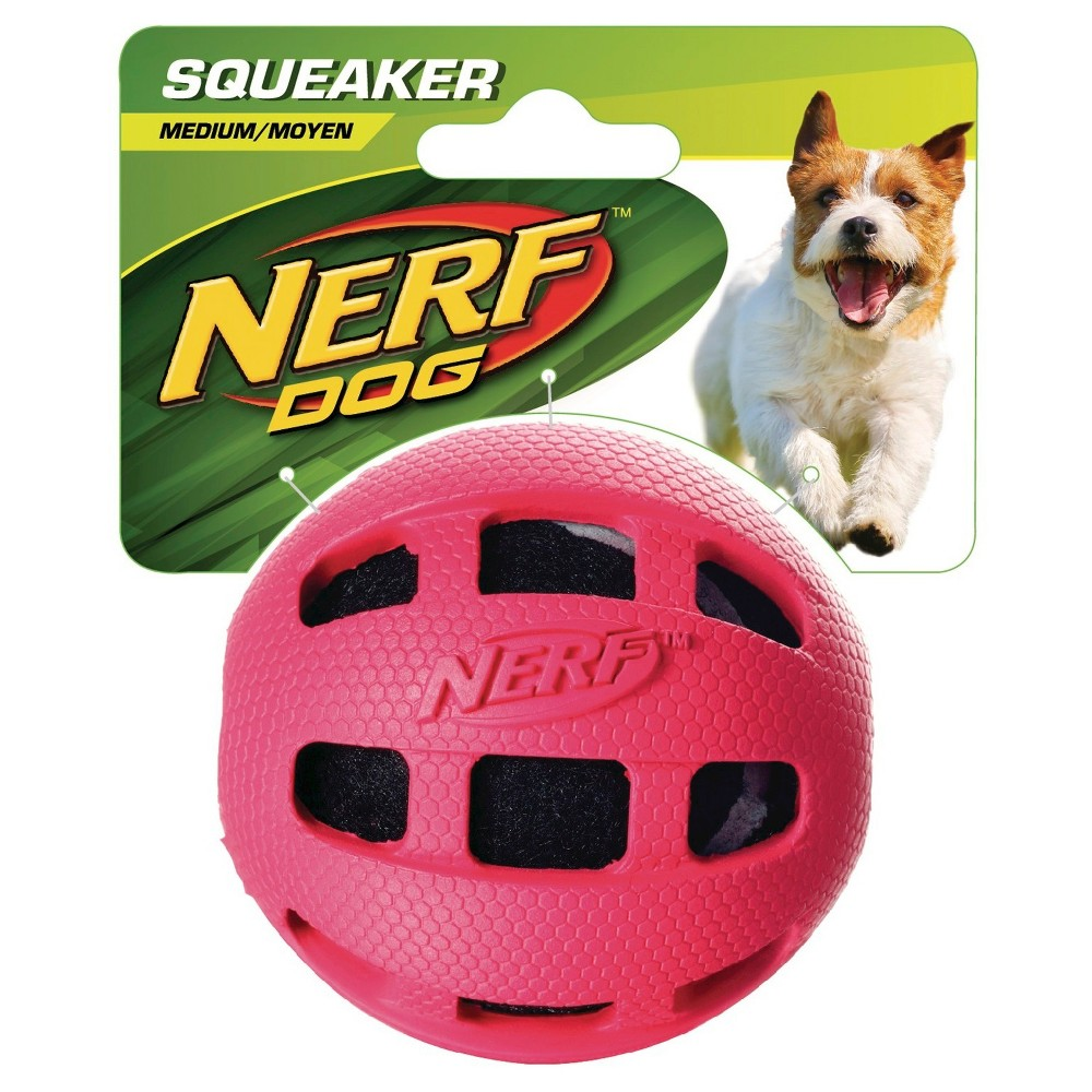 Nerf Tennis Ball in Rubber Pet Toy - Red - 3