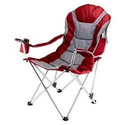 Picnic Time Reclining Camp Chair - Dark Red/ Gray (12.5 Lb)