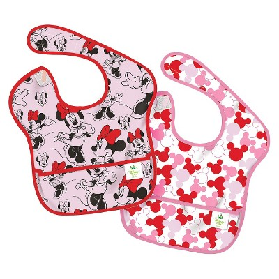 Bumkins Disney Baby Minnie Mouse 2pk Waterproof SuperBib® Baby Bib Set - Pink