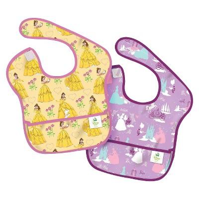 Bumkins Disney Baby Disney Princess 2ck Waterproof SuperBib® Baby Bib Set - Yellow and Purple