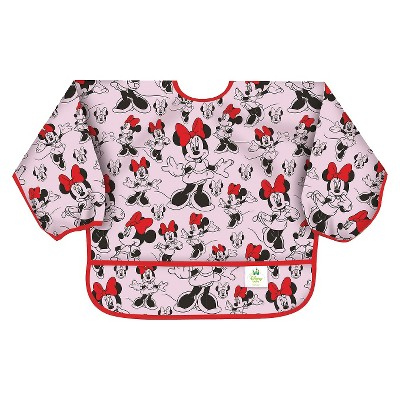 Bumkins Disney Baby Minnie Mouse Waterproof Sleeved Baby Bib - Pink