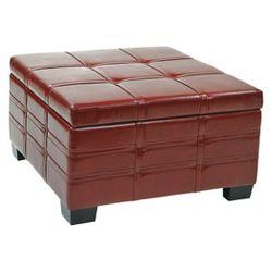 Detour Storage Strap Ottoman With Tray Eco Leather Storage
