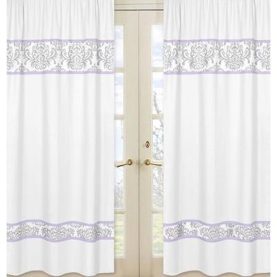 Sweet Jojo Designs Window Panels - Elizabeth - 2pc - Lavender