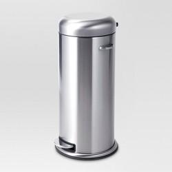 30L Metal Step Trash Can - Threshold™
