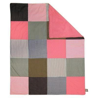 Trend Lab Cocoa Coral Receiving Blanket