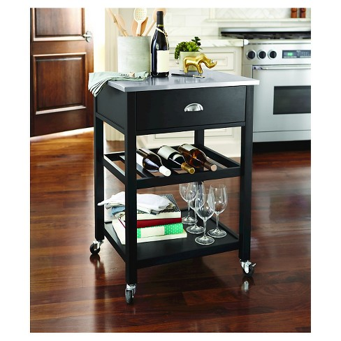 target styles wood hei natural p with steel stainless kitchen wid home cart fmt a