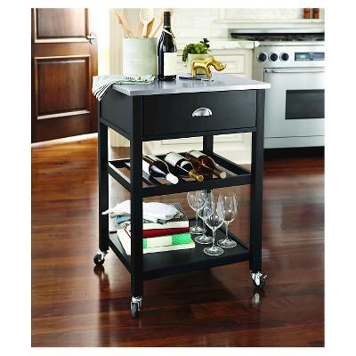 Stainless Steel Top Kitchen Cart   Threshold™