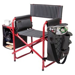 Picnic Time Fusion Chair - Dark Gray/ Red (14.0 Lb)