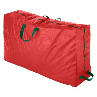Whitmor Rolling Christmas Tree Bag Extra-large to fit up to 9-ft Tree - Red - 50u0022 x 11.5u0022 x 27u0022