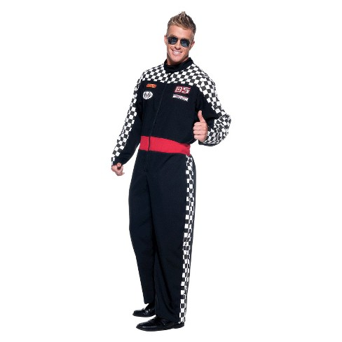 Men's Race Driver Jumpsuit Costume One Size Fits Most - image 1 of 1