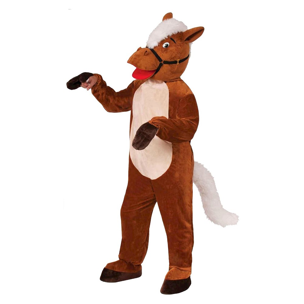 Mens Henry The Horse Mascot Costume One Size Fits Most, Blue