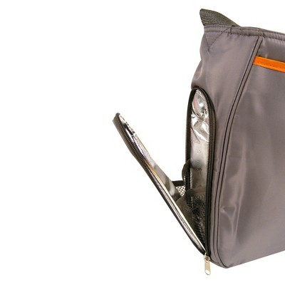 Trend Lab Hobo Diaper Bag - Gray & Orange, Gray/Orange