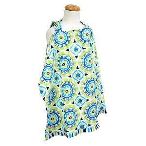 Trend Lab Nursing Cover - Waverly Solar Flair, Blue/Green