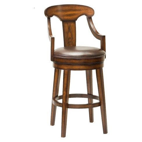 "Upton 30.5"" Barstool Wood Composite/Rustic Oak - Hillsdale Furniture - image 1 of 1"