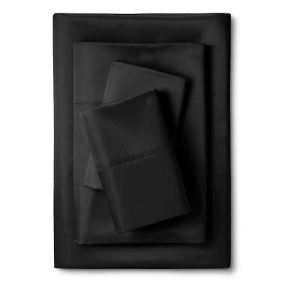 Scent-Sation Whispersilk 340TC Satin Sheet Set - Black (Queen)