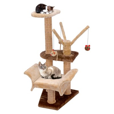 catlife lounger with play tree climbing tower and scratching posts from pennplax - Cat Scratching Post