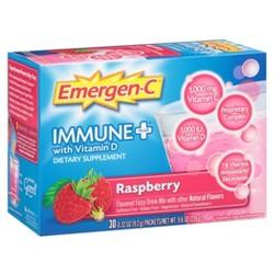 Emergen-C® Immune+® Dietary Supplement Powder Drink Mix with Vitamin D, 1000mg Vitamin C - Raspberry Flavor - 30ct