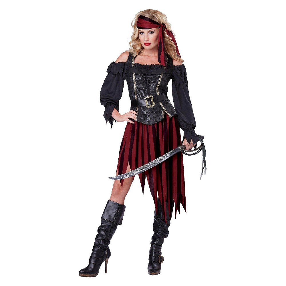 Pirate Queen of the High Seas Womens Costume - X-Small, Size: XS, Variation Parent