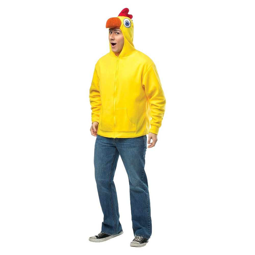 Adult Chicken Hoodie Costume Small, Mens, Variation Parent