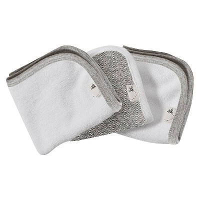 Burt's Bees Baby™ Organic 3 Pack Washcloth Set - Heather Gray