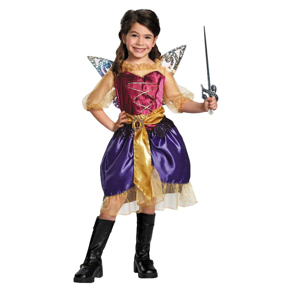 Tinker Bell and The Pirate Fairy Pirate Zarina Girls Costume - Medium (7-8), Size: M(7-8), Variation Parent